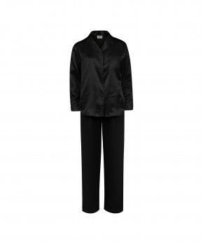 Lady Avenue - Homewear - Cotton & satin Satin Long Sleeve Pyjamas