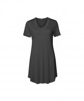 Lady Avenue - Silk Jersey Nightgown W/Sleeve