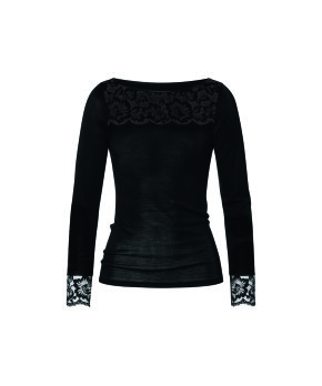 Mey - Wool & Lace Top 1/1 Sleeve