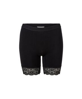 Lady Avenue - Bamboo Underwear Short Leggings With Lace