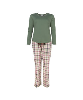 Lady Avenue - Homewear - Cotton & satin Cotton Flannel Pyjamas