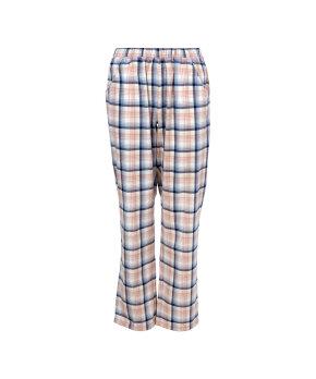 Lady Avenue - Homewear - Cotton & satin Cotton Flannel Pant