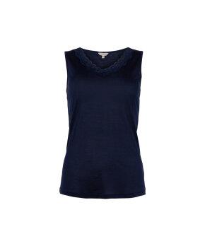 Lady Avenue - Silk Jersey Top W/Lace