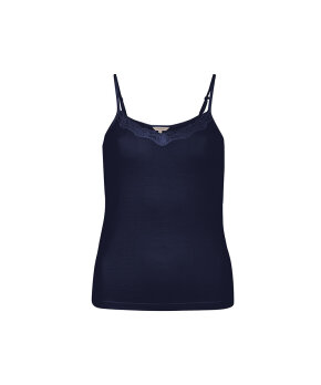 Lady Avenue - Silk Jersey Camisole W/Lace